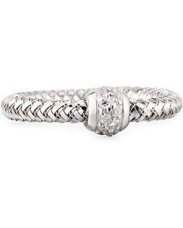 Primavera 18k White Gold Mini Ring W/ Diamonds