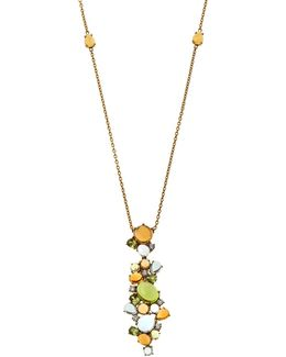 18k Shanghai Diamond & Mixed Gemstone Pendant Necklace