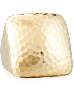 Martellato Square 18k Gold Ring