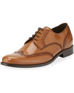 Patent Wing-tip Dress Derby