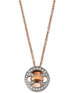 Marina 18k Rose & White Gold Pendant Necklace W/ Diamonds