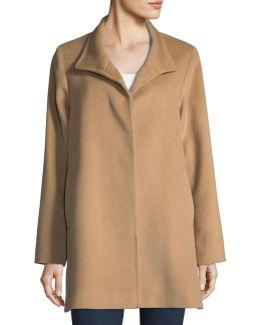 Solid Wool Car Coat