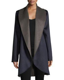 Double-face Shawl-collar Coat