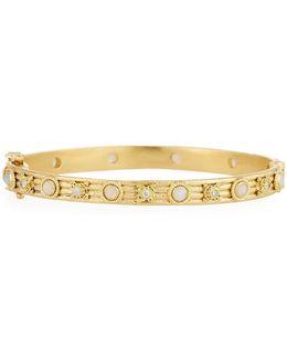 Sueno 18k Diamond & Opal Bangle Bracelet