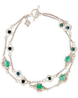 New World Double-strand Chain Bracelet W/ Champagne Diamonds