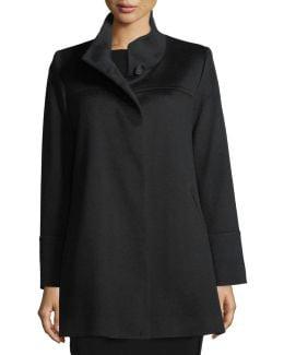 Stand-collar Wool Car Coat
