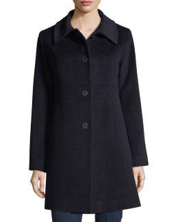 Empire-waist Wool-blend Coat