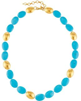 Jordan 24k Turquoise Beaded Necklace