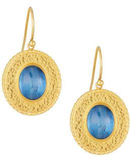 Renaissance 24k Oval Kyanite Drop Earrings
