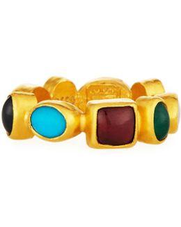 Rune 24k Mixed Gemstone Band Ring