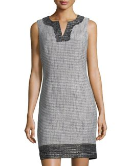 Positive/negative Tweed Shift Dress