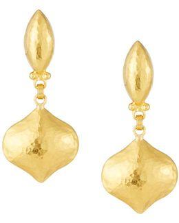 Clove 24k Puff Drop Earrings
