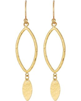 Willow Mini 24k Silhouette Drop Earrings