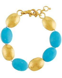 Jordan 24k Turquoise Beaded Bracelet