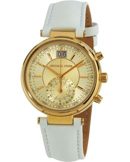 39mm Champagne Chronograph Watch