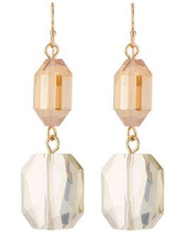 Crystal Bead Drop Earrings