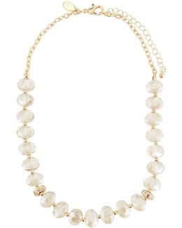 Crystal Bead Short Collar Necklace