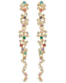 Multicolor Crystal Statement Drop Earrings