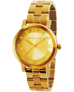 38mm Yellow-golden Stainless Steel Watch