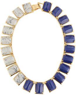 Gardenia Colorblocked Statement Collar Necklace