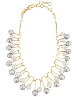 Howlite Beaded Fan Necklace