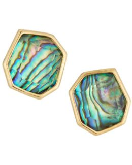 Abalone Fossil Stud Earrings