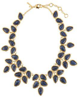Palm Leaf Statement Collar Necklace