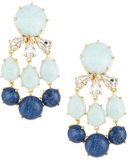 Papyrus Stone & Crystal Chandelier Earrings