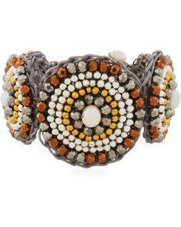 Pearl & Howlite Circular Bracelet