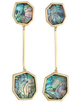 Abalone Shell Linear Drop Earrings