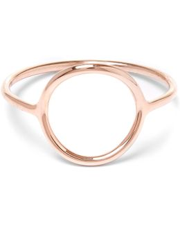 Rose Gold-plated Monocle Ring