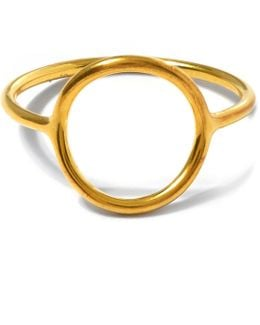 Monacle Gold-plated Ring
