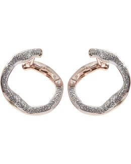 Rose Gold-plated Diamond Riva Circle Earrings