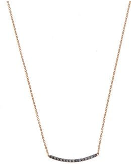 Rose Gold Sapphire Short Bar Necklace