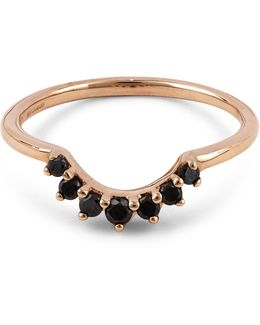 Rose Gold Grand Tiara Black Diamond Ring