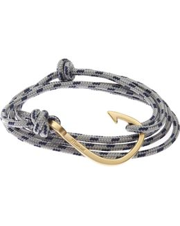 Brass Hook On Rope Bracelet