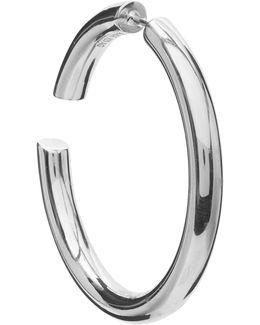 Silver Distruption 40 Earring