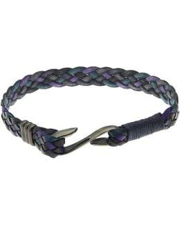 Leather Wrap Hook Bracelet