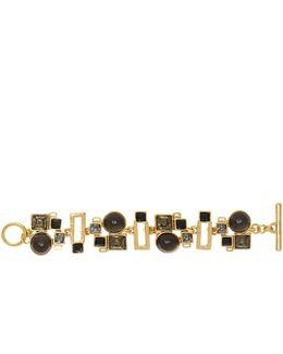 Geometric Crystal And Resin Bracelet