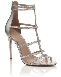Embellished High Heeled Sandals