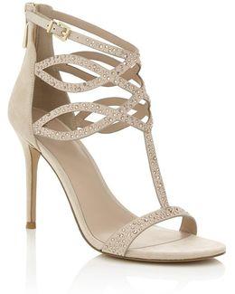 Embellished High Heeled Sandal