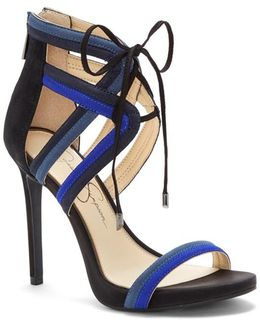 Colour Block Strappy Sandals