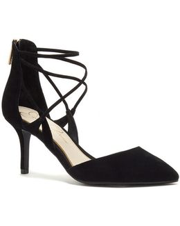 Strappy Mid Heel Courts