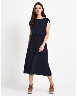 Elasticated Waist Midi Dress