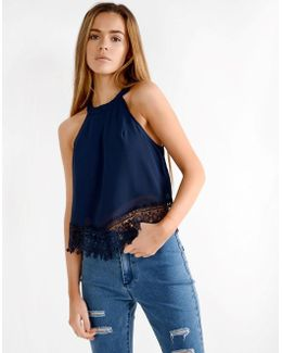 Crochet Halter Neck Blouse