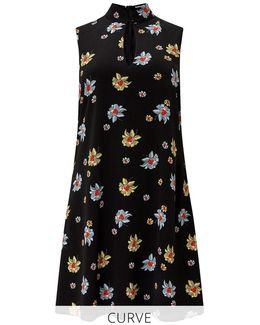 Curve Floral Print Shift Dress