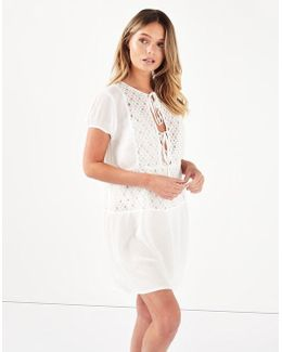 Sheer Lace Shirt Cover Up