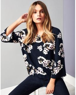 Floral Print Occasion Top