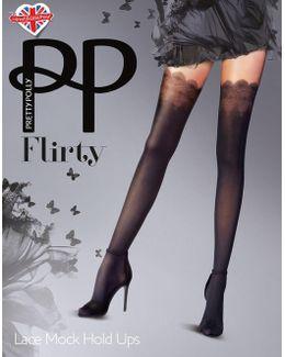 Flirty Lace Mock Holdup Tights
