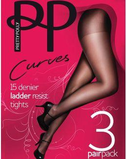 Plus Size 3pp Ladder Resist Tights
